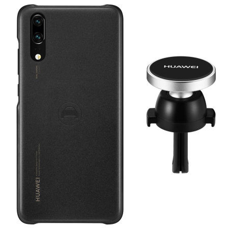 Official Huawei P20 Car Mount & Magnetic Car Case - Black