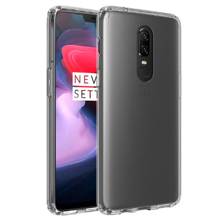 free shipping 8bb8d e85bb Olixar ExoShield Tough Snap-on OnePlus 6 Case - Crystal Clear