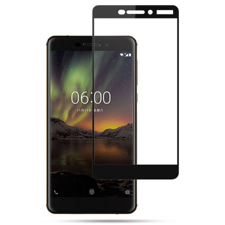 Olixar Nokia 6 2018 Tempered Glass Screen Protector - Black