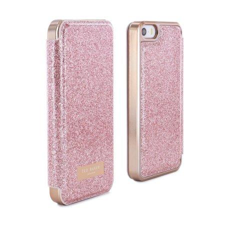 e92a108974c4f9 Ted Baker Pritsie iPhone SE Mirror Folio Case - Rose Gold