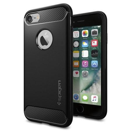 spigen rugged armor iphone 7 case - black