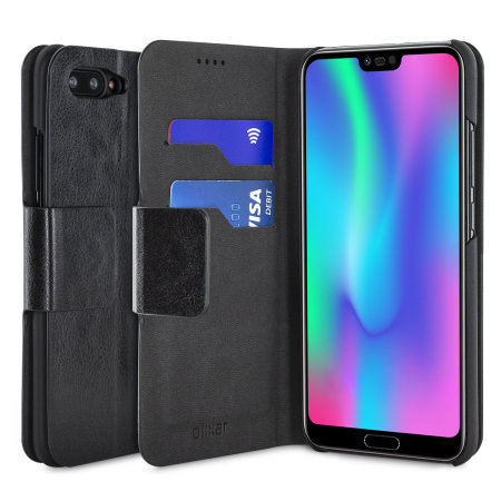 pretty nice 29f5f ce08f Olixar Leather-Style Huawei Honor 10 Wallet Case - Black