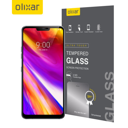 Olixar LG G7 Tempered Glass Screen Protector