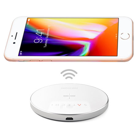 Satechi Portable iPhone 8 Qi Wireless Snabbladdningsplatta - Silver