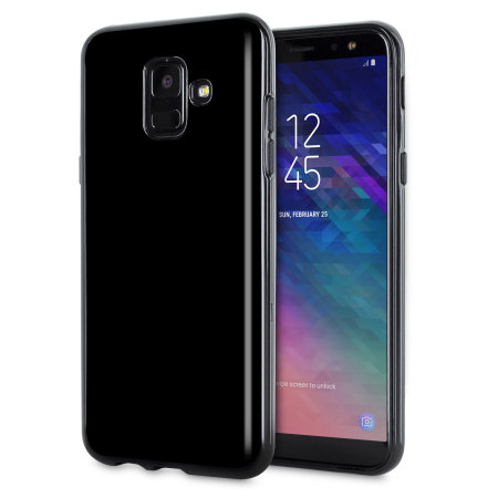 olixar flexishield samsung galaxy a6 2018 gel case solid black. Black Bedroom Furniture Sets. Home Design Ideas