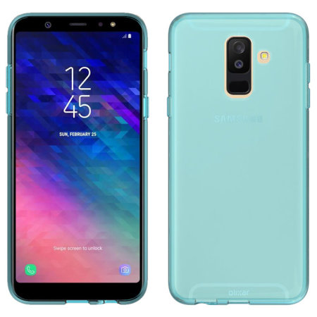 coque samsung galaxy a6 plus olixar flexishield en gel bleue corail. Black Bedroom Furniture Sets. Home Design Ideas
