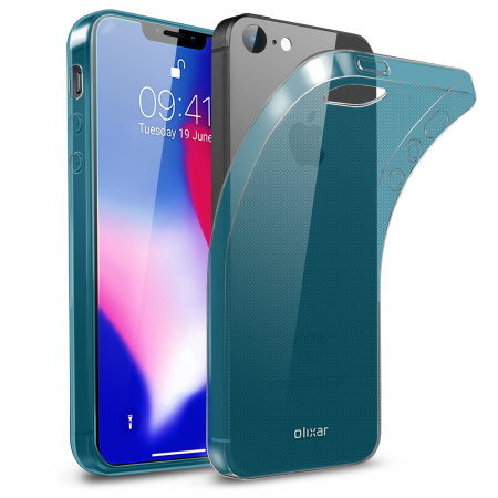 Olixar FlexiShield iPhone SE 2018 Gel Case - Blue