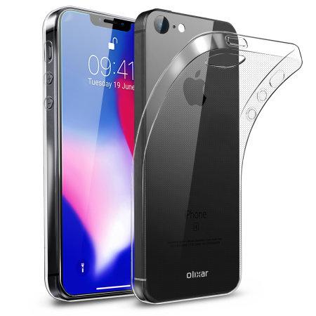 Olixar Ultra-Thin iPhone SE 2018 Gel Case - 100% Clear