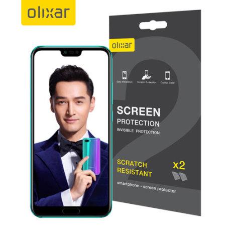 Protection d'écran Huawei Honor 10 Film protecteur Olixar – Pack de 2