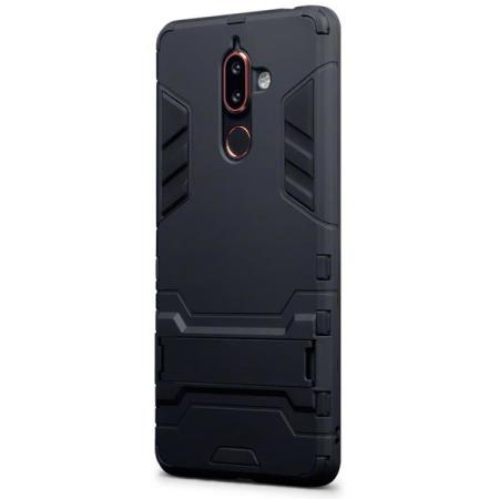 best service bfa7b 88cf9 Olixar Nokia 7 Plus Dual Layer Armour Case With Stand - Black