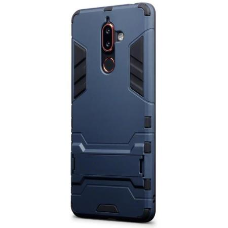 Olixar Nokia 7 Plus Dual Layer Armour Case With Stand - Dark Blue