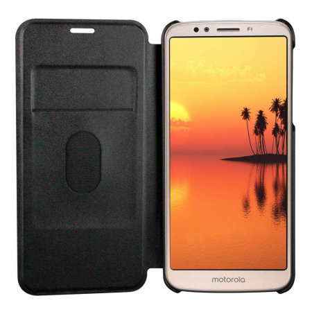 best service 05836 be989 Official Motorola Moto E5 Flip Case - Grey