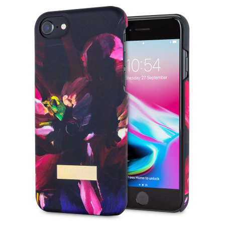 ted baker loliva iphone 8 soft feel shell case - impressionist bloom