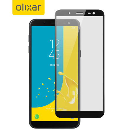Olixar Samsung Galaxy J6 2018 Full Cover Glass Screen Protector