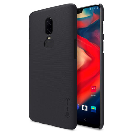 premium selection 99a04 41fbb Nillkin Super Frosted OnePlus 6 Shell Case & Screen Protector - Black