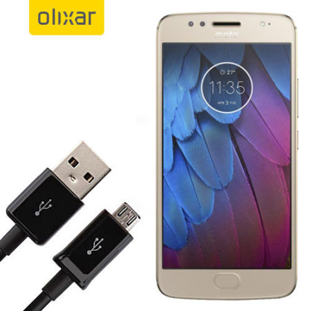 Olixar Motorola Moto G5S Power, Data & Sync Cable - Micro USB