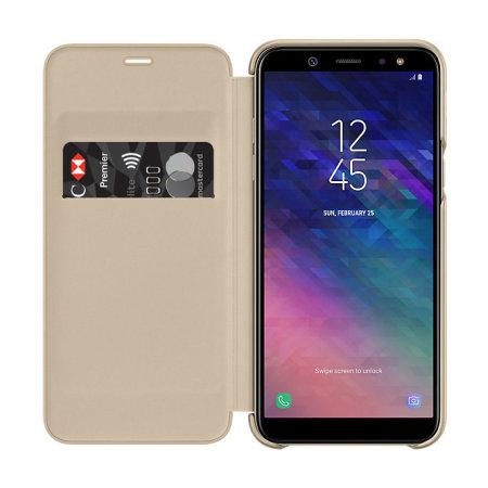 p samsung a6 official samsung galaxy a6 2018 wallet cover gold