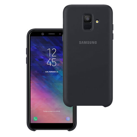 coque officielle samsung galaxy a6 2018 silicone cover noire. Black Bedroom Furniture Sets. Home Design Ideas