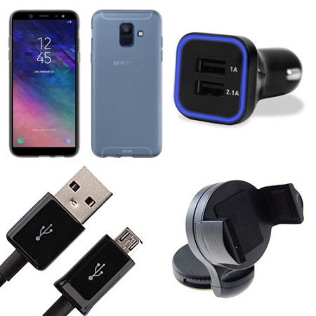 Ultimate Samsung Galaxy A6 Starter Pack - Case, Car Kit & Cable