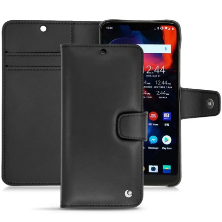 best sneakers 4568b 888d4 Noreve Tradition B OnePlus 6 Leather Wallet Case - Black
