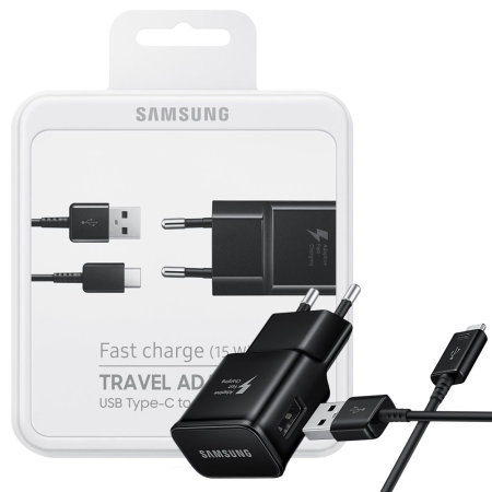 Official Samsung Adaptive Fast Charger & USB C Cable EU Black