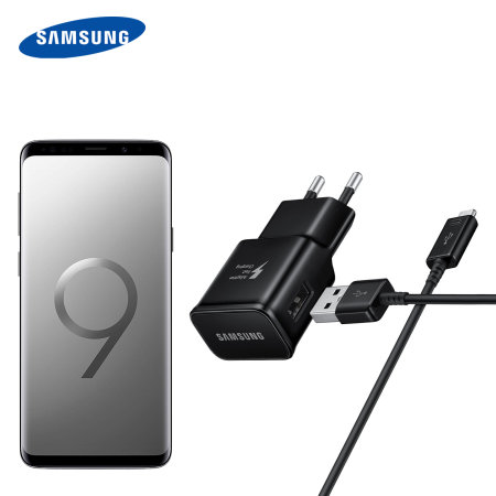 Official Samsung Galaxy S9 Plus Charger & USB-C Cable - EU - Black