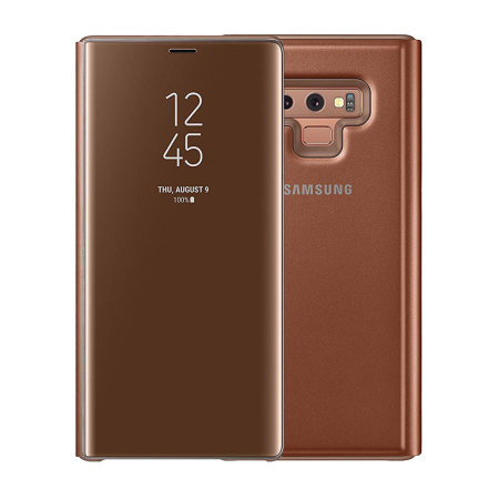online store 716dc a9694 Official Samsung Galaxy Note 9 Clear View Standing Case - Brown