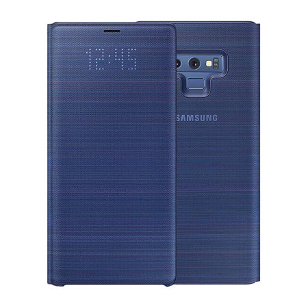 watch 735f9 72103 Official Samsung Galaxy Note 9 LED View Cover Case - Blue