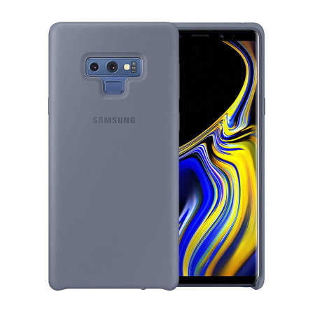 new styles a99a8 7da05 Official Samsung Galaxy Note 9 Silicone Cover Case - Blue