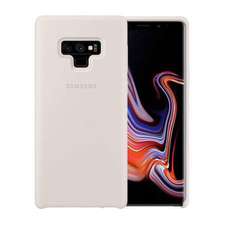 save off 93cf1 5d63e Official Samsung Galaxy Note 9 Silicone Cover Case - White