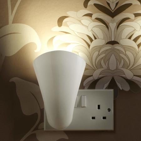 AGL Plug Socket Uplighting GU10 Wash Light Lamp - White