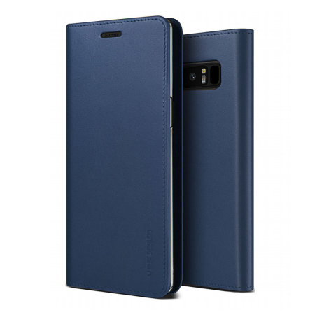 best sneakers 8868d 5cba8 VRS Design Genuine Leather Diary Samsung Galaxy Note 9 Case - Navy