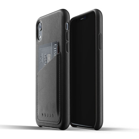 Mujjo Genuine Leather iPhone XR Wallet Case - Black