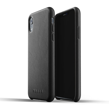 Mujjo Genuine Leather iPhone XR Case - Black
