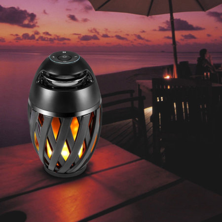 LED Flame Effect Waterproof Bluetooth Speaker Lantern