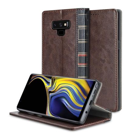 best service edd95 ed38a Samsung Galaxy Note 9 Flip Book Case Olixar XTome Leather-Style