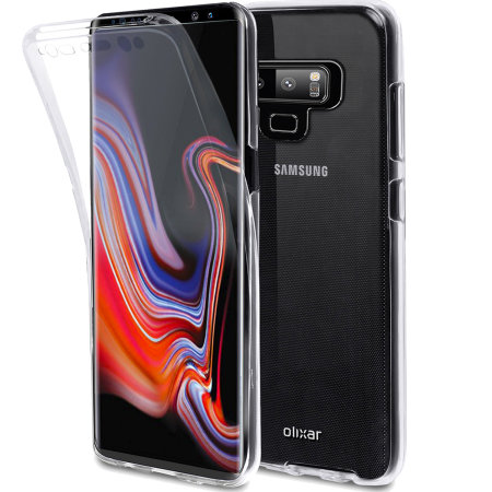 official photos b7576 1fdb6 Samsung Galaxy Note 9 Full Cover Case 360 Protection Olixar FlexiCover