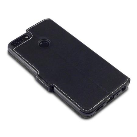 Olixar Huawei P Smart 2018 Leather-Style Wallet Case - Black