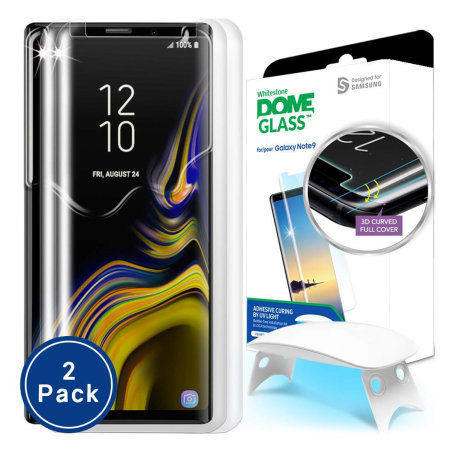 Whitestone Dome Glass Samsung Galaxy Note 9 Screen Protector - 2 Pack