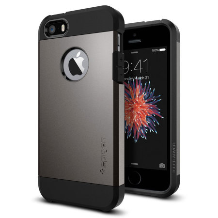 spigen sgp tough armor iphone se case - gunmetal reviews