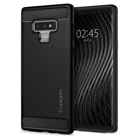 Spigen Rugged Armor Samsung Galaxy Note 9 Tough Carbon Case - Black