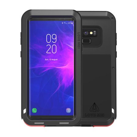 newest 8558d 10375 Love Mei Powerful Samsung Galaxy Note 9 Protective Case - Black