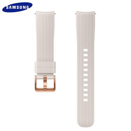 Official Samsung Galaxy Watch 20mm Silicone Strap - Silver