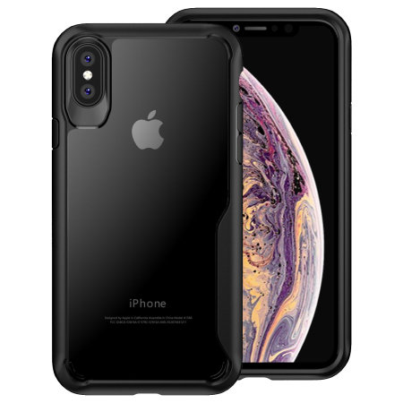 san francisco 85ea4 4c257 Olixar NovaShield iPhone XS Max Bumper Case - Black
