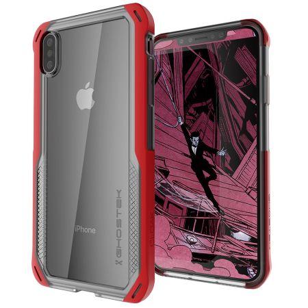 Ghostek Cloak 4 iPhone XS Tough Case - Clear / Red