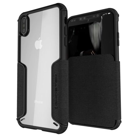 ghostek exec 3 iphone xs max wallet case - black