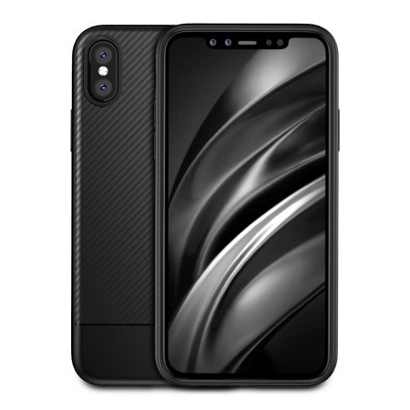 best service 116f2 8dc98 Olixar Carbon Fibre Apple iPhone XS Max Case - Black