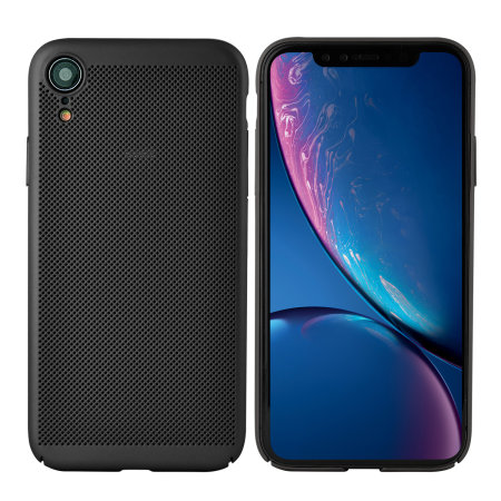olixar meshtex iphone xr case - black