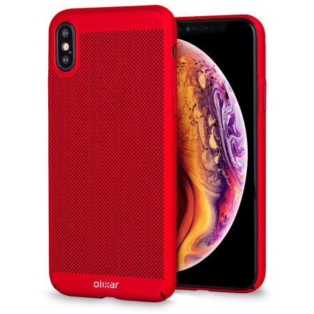 iPhone XS Max Olixar MeshTex Case - Rood