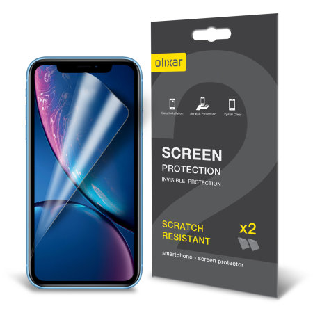 Olixar iPhone XR Film Screen Protector 2 pak